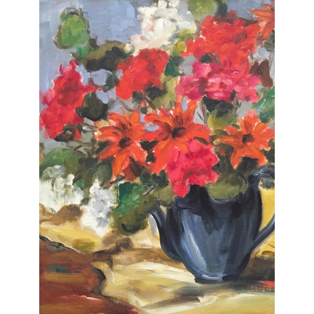 1950s 1950s Clifford Holmes Floral Still Life For Sale - Image 5 of 10