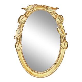 Rococo Brass Miniature Desk Mirror Frame For Sale