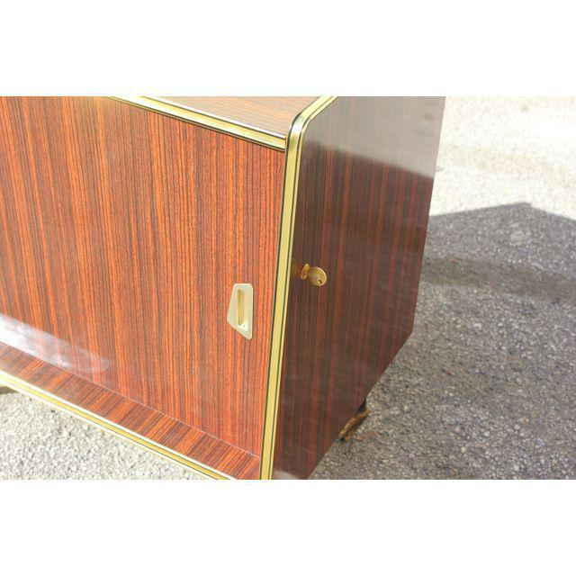 1940s Vintage Macassar French Art Deco Swivel Bar Cabinet For Sale - Image 9 of 13