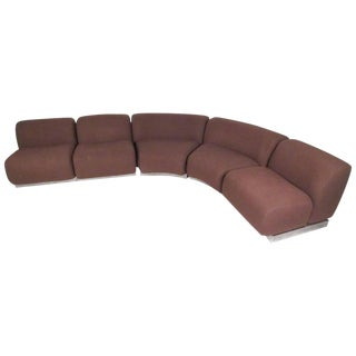 Modern Sectional Sofa in the Style of Milo Baughman For Sale