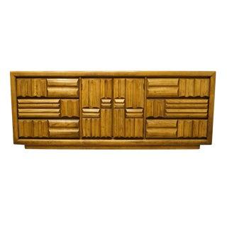 20th Century Contemporary Lane Furniture Triple Door Dresser For Sale