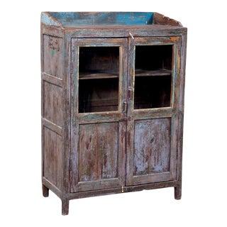 Antique Indian Teak Kitchen Cabinet For Sale