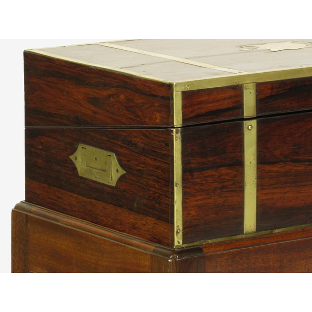 19th Century Regency Lap Desk on Stand For Sale - Image 9 of 11
