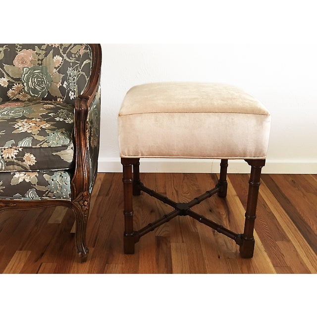 Hickory Chair Co. Upholstered Bench - Image 3 of 6