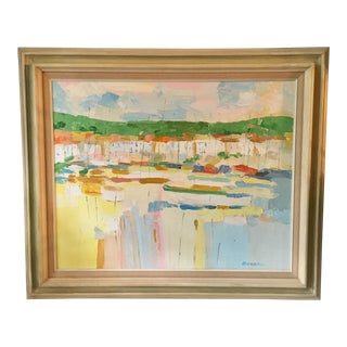 Mediterranean Marina by George Barrel For Sale