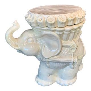 Vintage Ceramic Lidded Elephant Box For Sale