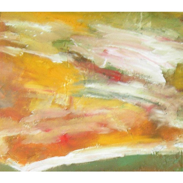 """Meadowscape"" Original Abstract Floral Landscape Painting - Red Green Yellow Wall Art Decor For Sale In Los Angeles - Image 6 of 6"