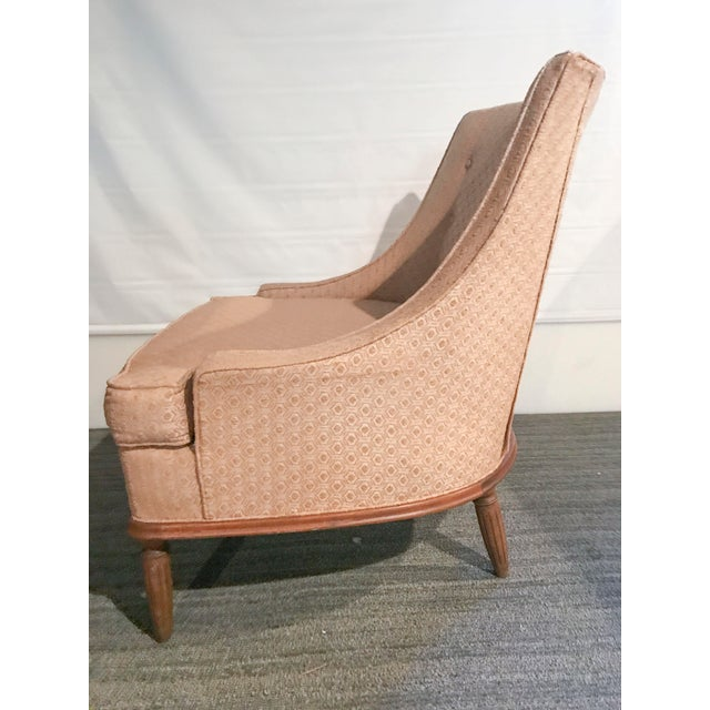 Mid-Century Modern Pale Pink Accent Chair - Image 7 of 11