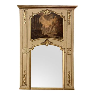 Trumeau, 19th Century French Louis XV Painted and Gilded For Sale