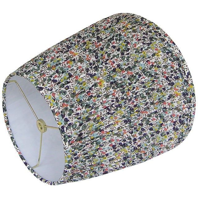 Boho Chic Pleated Floral Lamp Shade, Liberty London Fabric For Sale - Image 3 of 6
