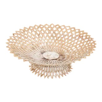 Vintage Bowl in White Attributed to Mathieu Matégot For Sale