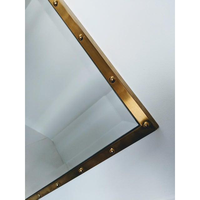 Nautical Brass Frame Mirror - Image 5 of 9