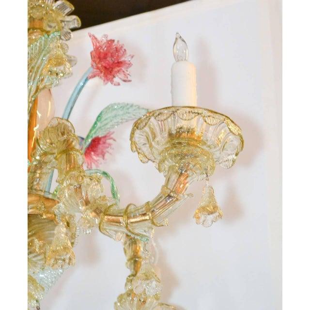 Italian Antique Italian Murano Multi-Color Chandelier For Sale - Image 3 of 7