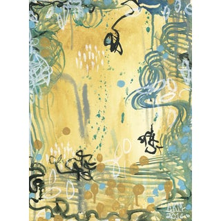 """Alex K. Mason """"Composing III"""" Abstract Original Mixed Media Painting on Unframed Canvas For Sale"""