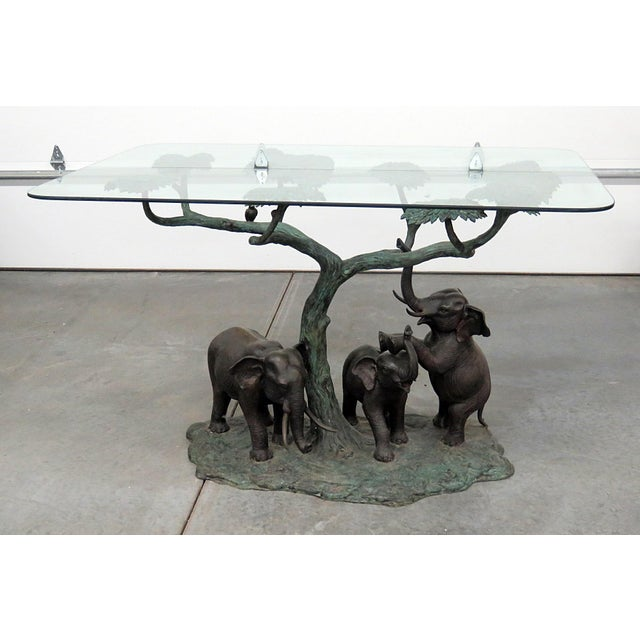 Late 20th Century Sculptural Glass Top Center Table For Sale - Image 12 of 12
