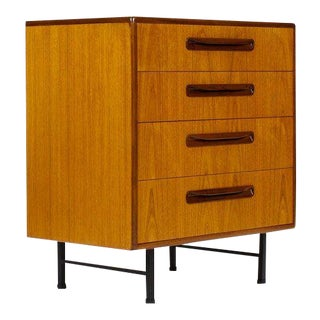1960s Danish Modern Fresco Line for G-Plan Teak Upright Dresser For Sale
