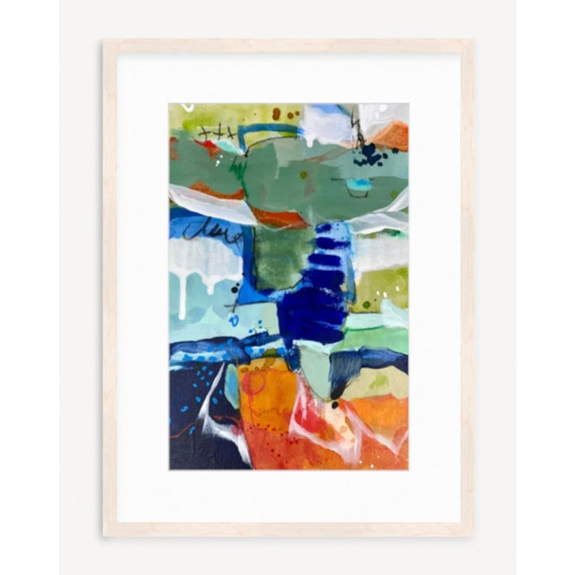 """2020s """"Here & Now"""" Contemporary Abstract Mixed-Media Painting by Gina Cochran For Sale - Image 5 of 5"""