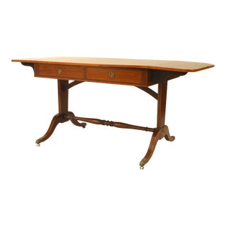 English Sheraton Mahogany Davenport Table For Sale