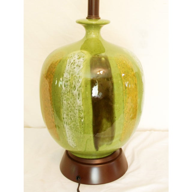Mid-Century Modern Green Table Lamps - A Pair - Image 5 of 6