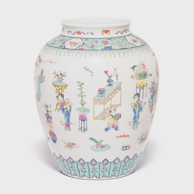 Early 20th Century Chinese Wucai Jar For Sale - Image 4 of 6