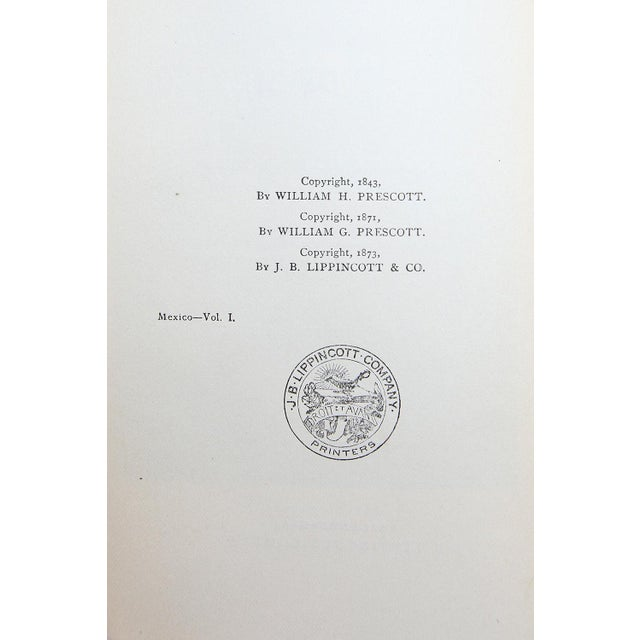 Navy Blue History of the Conquest of Mexico by William H. Prescott For Sale - Image 8 of 8