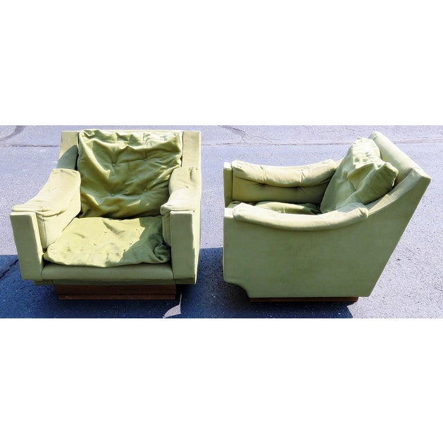 Italian Pair of Mid Century Modern Lounge Chairs For Sale - Image 3 of 10
