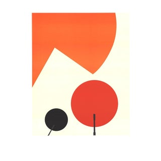 1960s Abstract Print on Paper by Takis