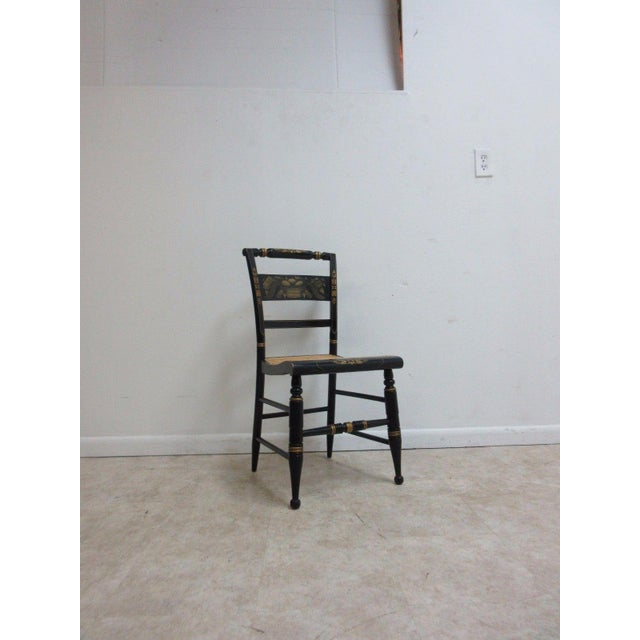 Vintage Hitchcock Style Cane Seat Side Chair For Sale - Image 10 of 10