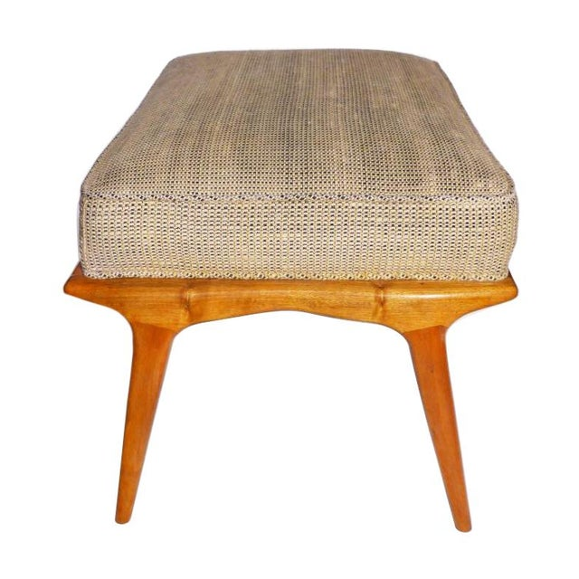 Carlo di Carli 1960s Vintage Carlo De Carli Ottoman. Like Gio Ponti in Style. All Original, Including the Fabric For Sale - Image 4 of 6