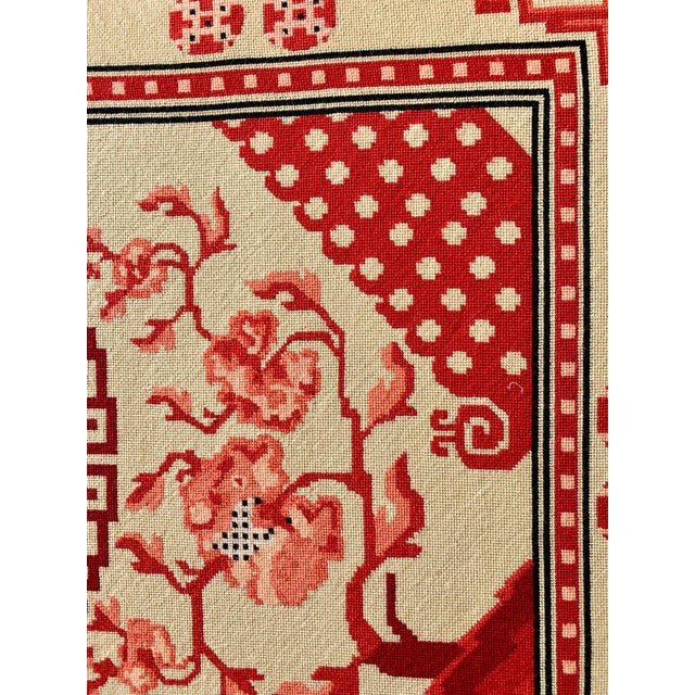 Chinese Textile Art Needlepoint Panel For Sale In West Palm - Image 6 of 9