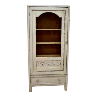 Painted Pine Vitrine For Sale