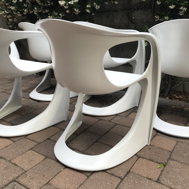 Mid Century Vitra Style Monolith Chairs- 5 Pieces For Sale In Los Angeles - Image 6 of 11
