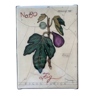 "Savage Design Studio ""No 80 Fig"" Painted Fresco For Sale"