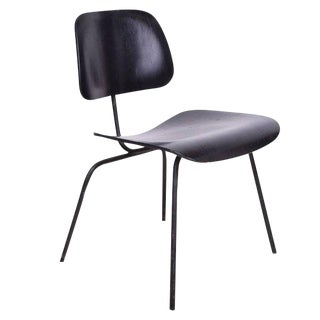 Mid-Century Modern Eames Dcm Chair in Black For Sale