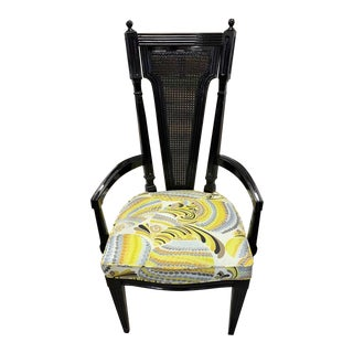 1950s Vintage Cane Chair For Sale