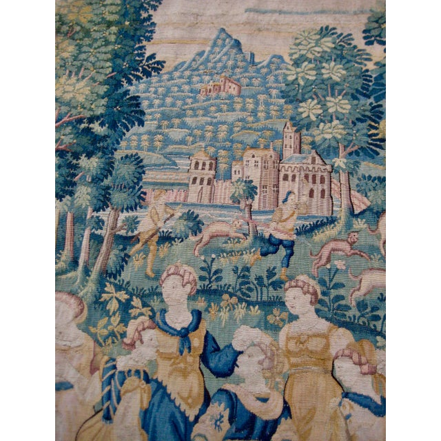 16th Century Large 16th Century Flemish Tapestry Wall Hanging For Sale - Image 5 of 13