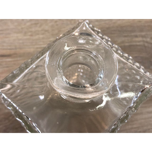 Glass Vintage Diamond Point Glass Decanter For Sale - Image 7 of 10