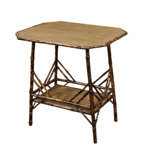 Large Victorian Tiger Bamboo Table For Sale