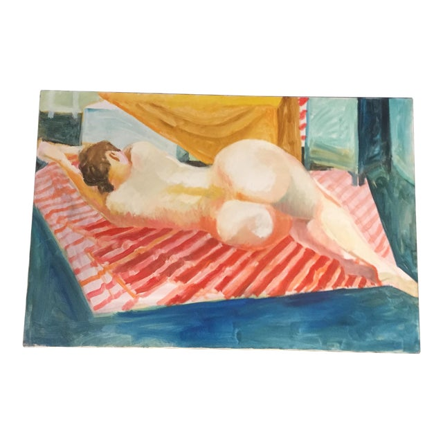 Vintage Original Female Nude Painting - Image 1 of 5