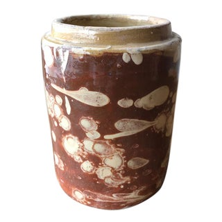 "Italian Antique Canister- 7""h For Sale"