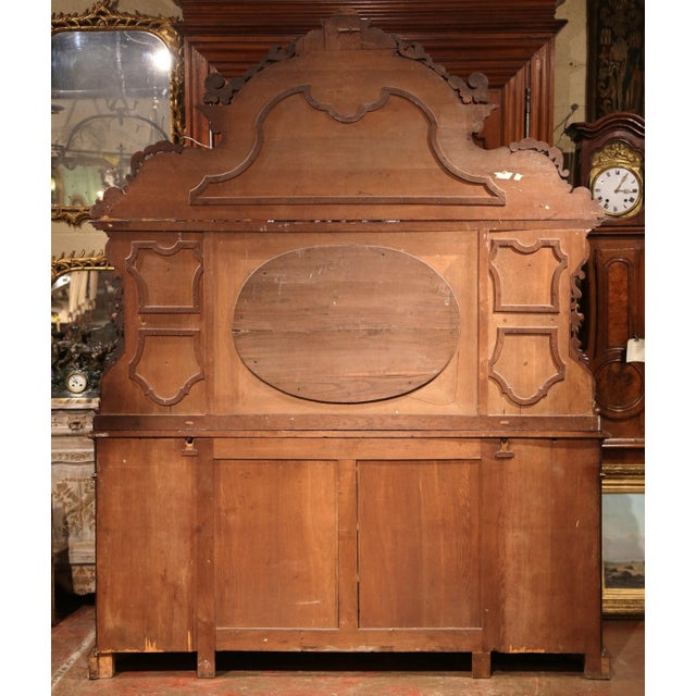 Large 19th Century French Carved Rosewood Hunting Buffet With Deer and Birds For Sale - Image 10 of 11