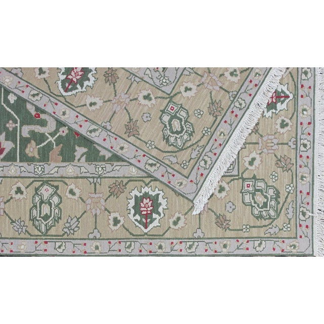 Soumak Design Hand Woven Wool Rug - 8' X 10' For Sale - Image 4 of 5