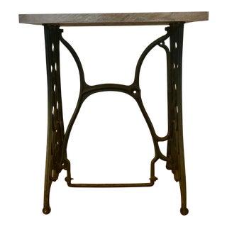 Repurposed Walnut & Metal Sewing Table