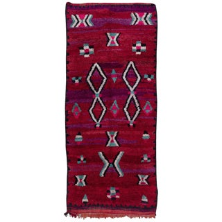 20th Century Moroccan Brick Red Wool Talsint Rug For Sale
