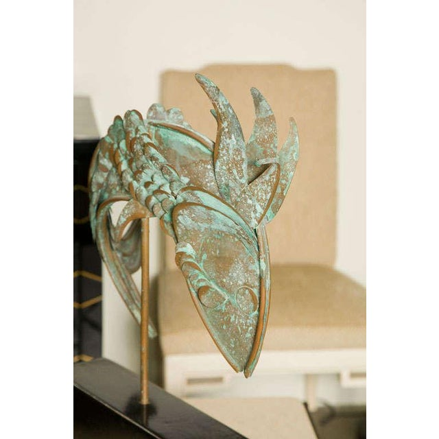 1960s Metal Fish Sculpture For Sale - Image 5 of 8