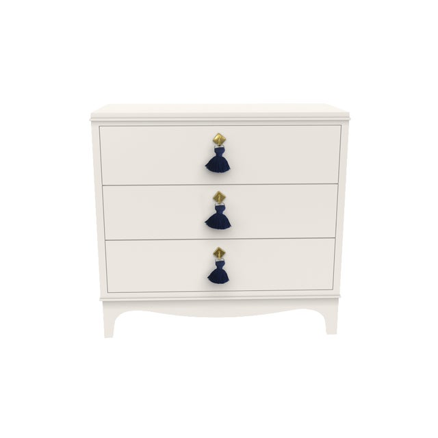 """Lacquer Chest The """"go to"""" piece from oomph. A traditional three-drawer chest updated with sleek hardware and a bright,..."""