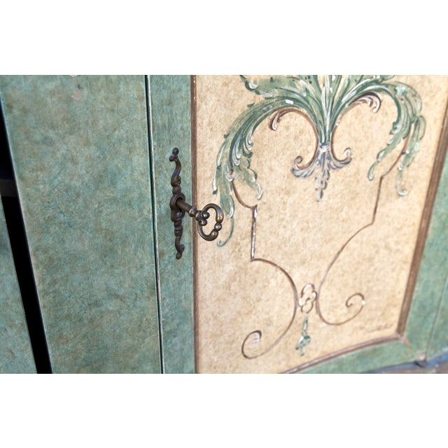 Italian Hand Painted Cabinet For Sale - Image 9 of 10