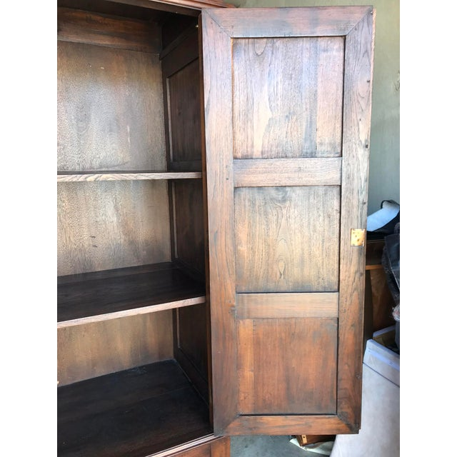Traditional Large Teak Armoire For Sale - Image 3 of 13