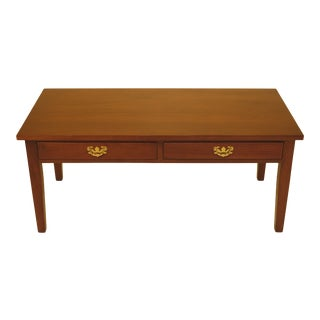 1970s Chippendale Suters Walnut 2 Drawer Coffee Table For Sale