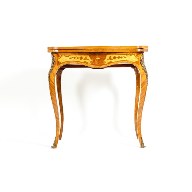 Kingwood / Mounted Bronze Details Card Table For Sale - Image 13 of 13